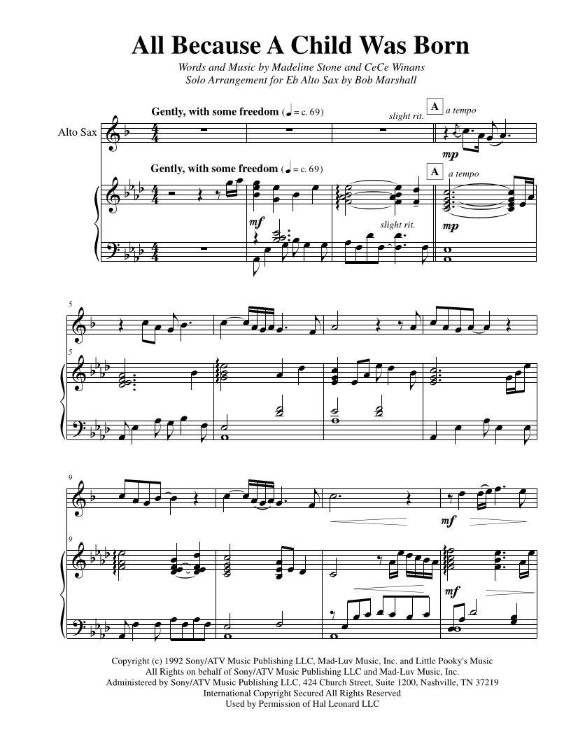 Alto Sax Solo Sheet Music – Grcija
